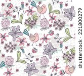 floral background. seamless... | Shutterstock .eps vector #221800279
