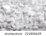 calcium chloride  cacl2  flakes.... | Shutterstock . vector #221800639