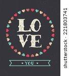 love vintage background  ... | Shutterstock .eps vector #221803741