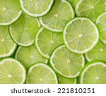 lime slices | Shutterstock . vector #221810251