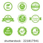 eco vintage labels bio template ... | Shutterstock .eps vector #221817541