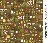 seamless pattern of flat... | Shutterstock .eps vector #221820319
