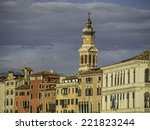 along the canals of venice ... | Shutterstock . vector #221823244