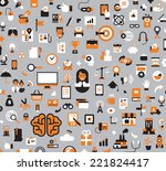 business icons | Shutterstock .eps vector #221824417