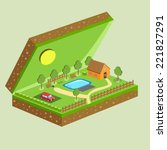 A Plot Of Land With A House  A...