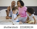 african family watching... | Shutterstock . vector #221828134