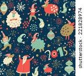 stylish merry christmas... | Shutterstock .eps vector #221828974