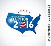 2016 usa presidential election... | Shutterstock .eps vector #221830615