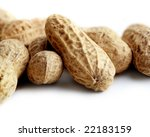 peanuts isolated on white... | Shutterstock . vector #22183159