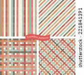 set of seamless abstract... | Shutterstock .eps vector #221841391