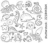 Coloring Book  Sea Life   Set...