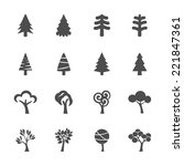 tree icon set  vector eps10. | Shutterstock .eps vector #221847361