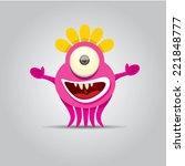 cartoon cute monster | Shutterstock .eps vector #221848777