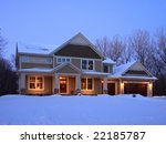 residential house at night | Shutterstock . vector #22185787