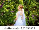beautiful bride of lilac | Shutterstock . vector #221858551