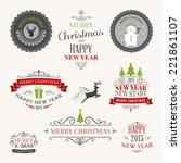 christmas decoration set of... | Shutterstock .eps vector #221861107