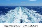 Sea Wake Behind Large Ship