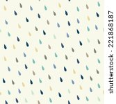 vector rain drops background | Shutterstock .eps vector #221868187