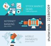 online mobile business concept...   Shutterstock .eps vector #221869309
