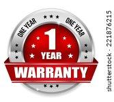 round one year warranty badge... | Shutterstock .eps vector #221876215