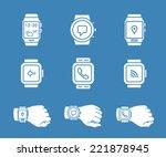 smartwatch icons. vector... | Shutterstock .eps vector #221878945