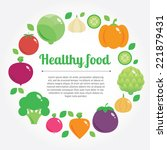 healthy food vector background... | Shutterstock .eps vector #221879431