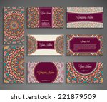 collection business card or... | Shutterstock .eps vector #221879509