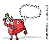love struck heart cartoon... | Shutterstock .eps vector #221881615