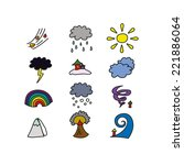 icons with natural phenomena | Shutterstock .eps vector #221886064