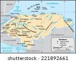 honduras country map | Shutterstock .eps vector #221892661