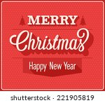 christmas greeting card. vector ... | Shutterstock .eps vector #221905819