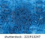 abstract dark blue outline... | Shutterstock . vector #221913247