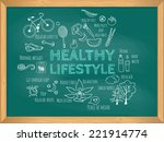 healthy lifestyle concept.  | Shutterstock .eps vector #221914774