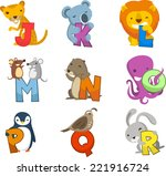 Animal Alphabet With Letters ...