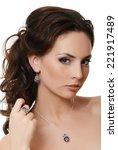 the beautiful sensual  woman... | Shutterstock . vector #221917489