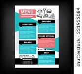 restaurant cafe menu  template... | Shutterstock .eps vector #221923084