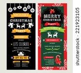 invitation merry christmas.... | Shutterstock .eps vector #221923105