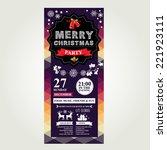 invitation merry christmas.... | Shutterstock .eps vector #221923111