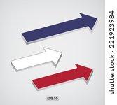 next step arrows. vector...   Shutterstock .eps vector #221923984