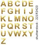 golden font. character set | Shutterstock . vector #22192423