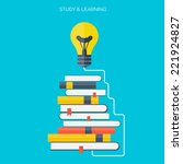 symbo lflat concept education... | Shutterstock .eps vector #221924827