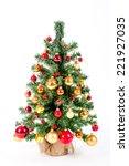 xmas tree  | Shutterstock . vector #221927035