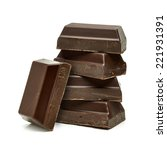broken chocolate blocks stack... | Shutterstock . vector #221931391