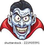 vampire face. vector clip art... | Shutterstock .eps vector #221935591