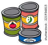 an illustration of three cans... | Shutterstock .eps vector #221936815