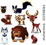 Forest Animals Cartoon Set....