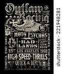 Outlaw Racing Vintage Poster T...