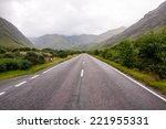 lonely road in the scottish... | Shutterstock . vector #221955331