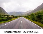 lonely road in the scottish... | Shutterstock . vector #221955361