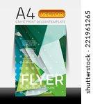 vector a4 cmyk modern flyer... | Shutterstock .eps vector #221961265
